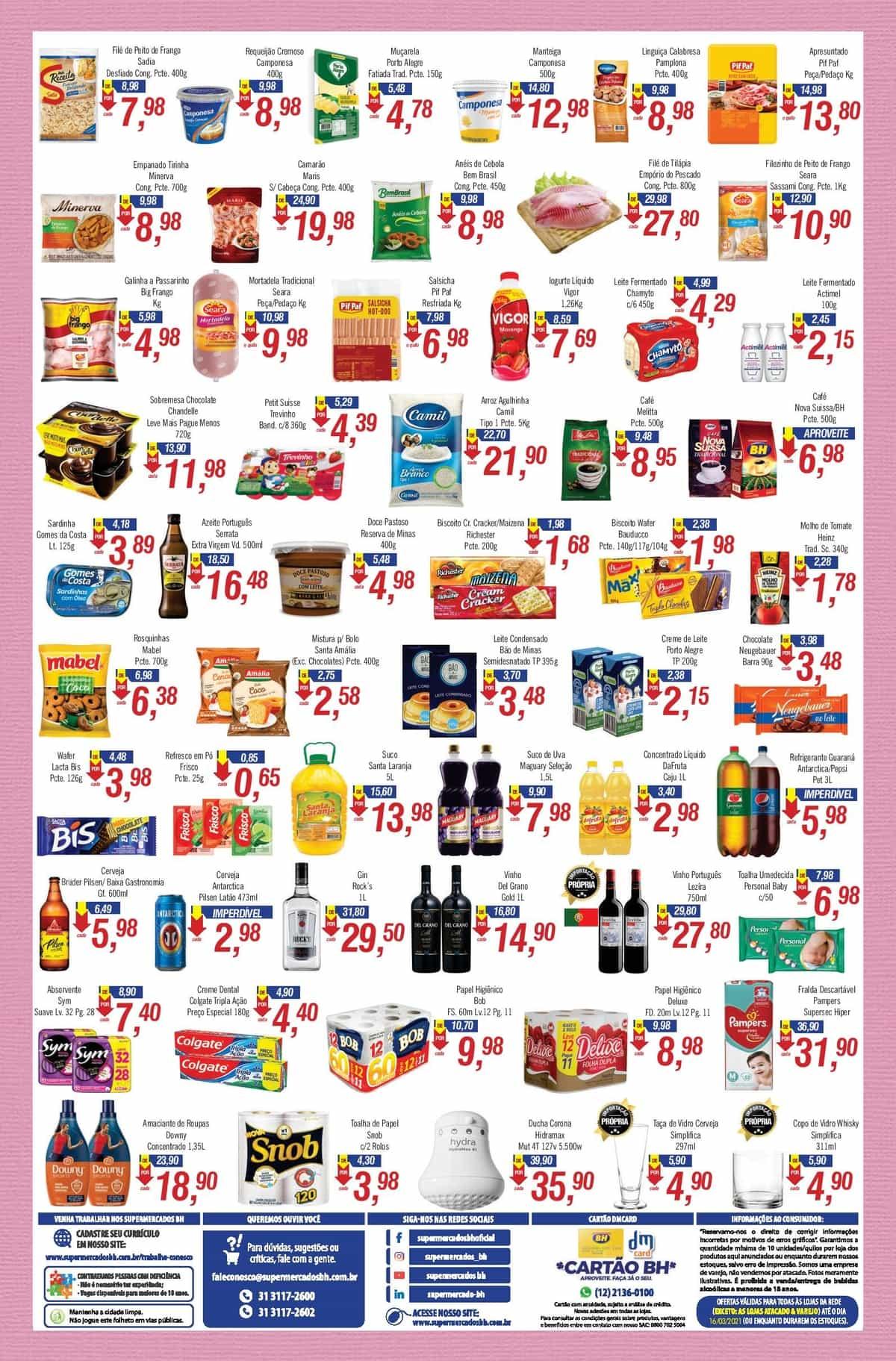 Ofertas Supermercados BH até 16/03