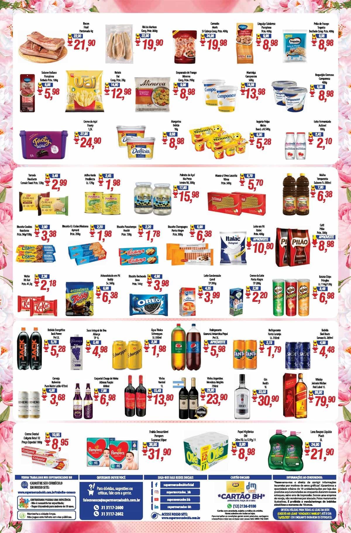 Ofertas Supermercados BH até 16/05