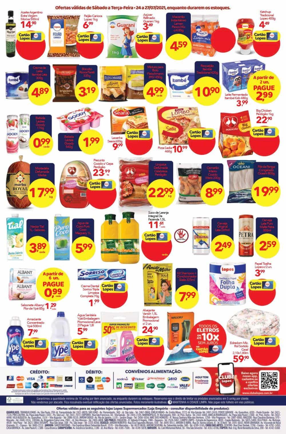 Ofertas Lopes Supermercados até 27/07