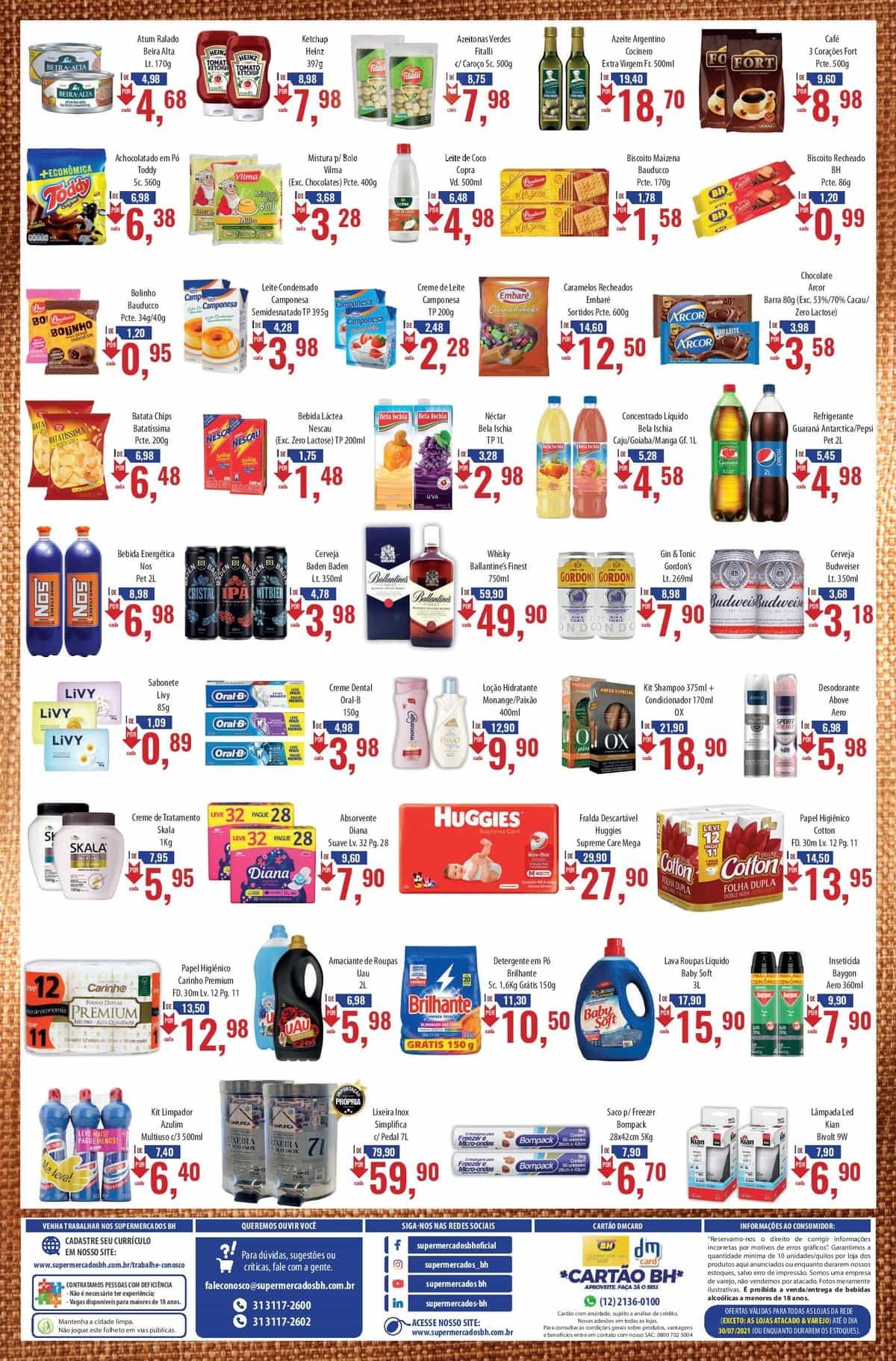 Ofertas Supermercados BH até 30/07